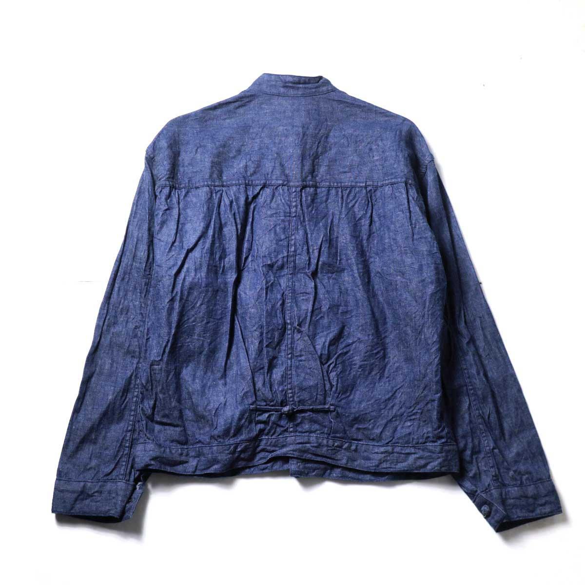orSlow / Frog Button Denim Jacket (Indigo) 背面