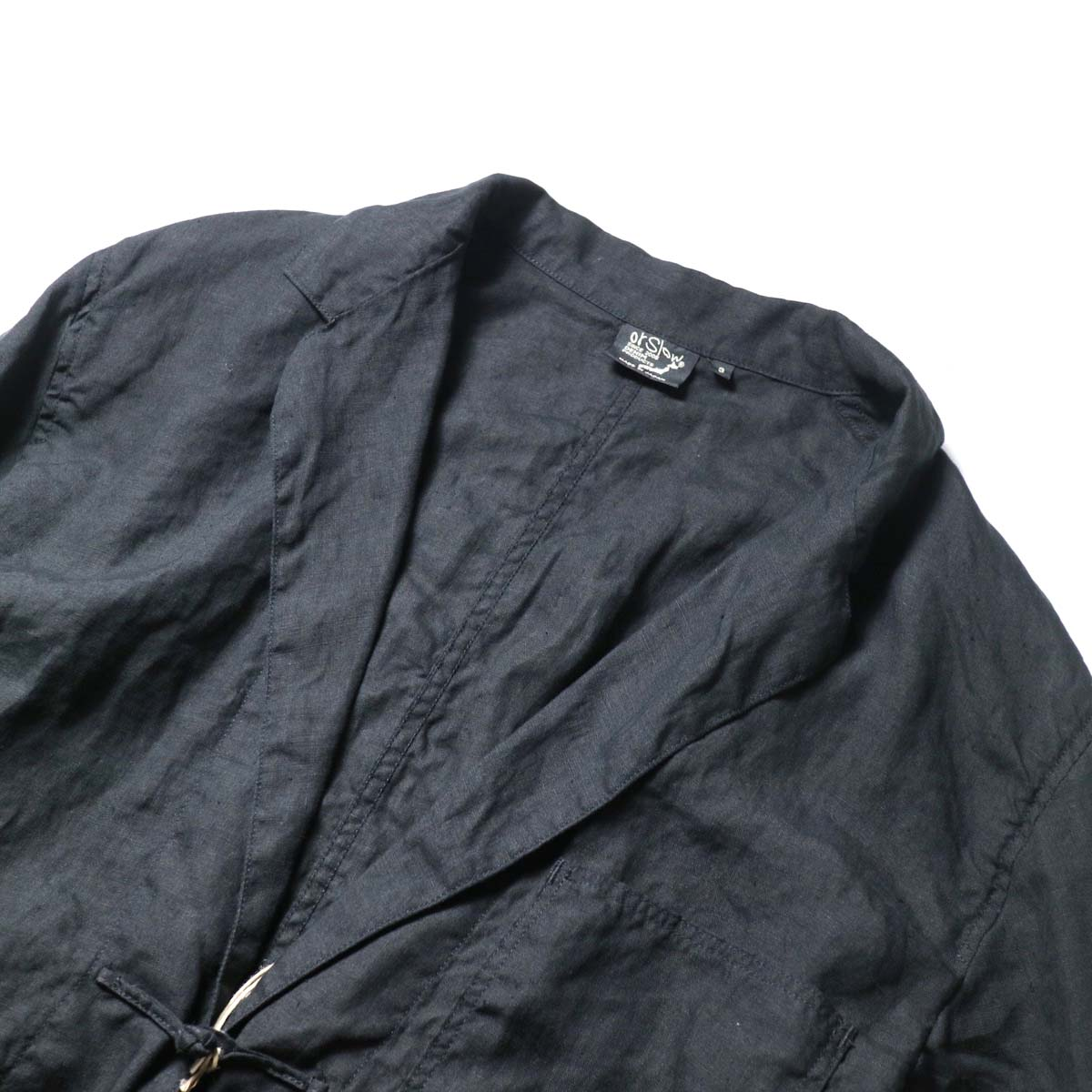 orSlow / Frog Button Linen Jacket 襟