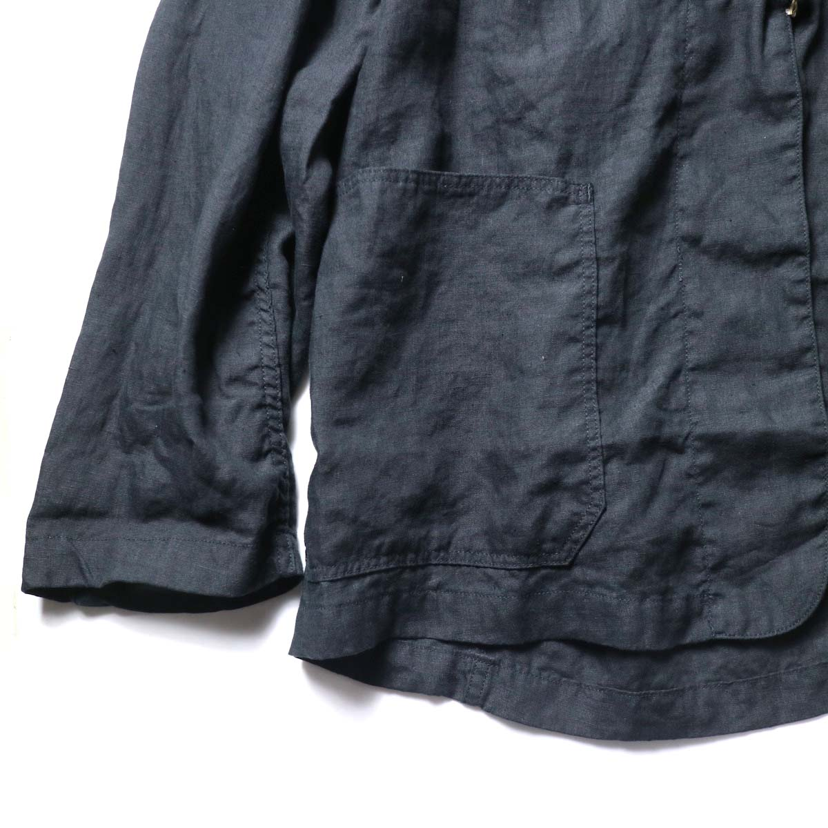 orSlow / Frog Button Linen Jacket 袖、裾