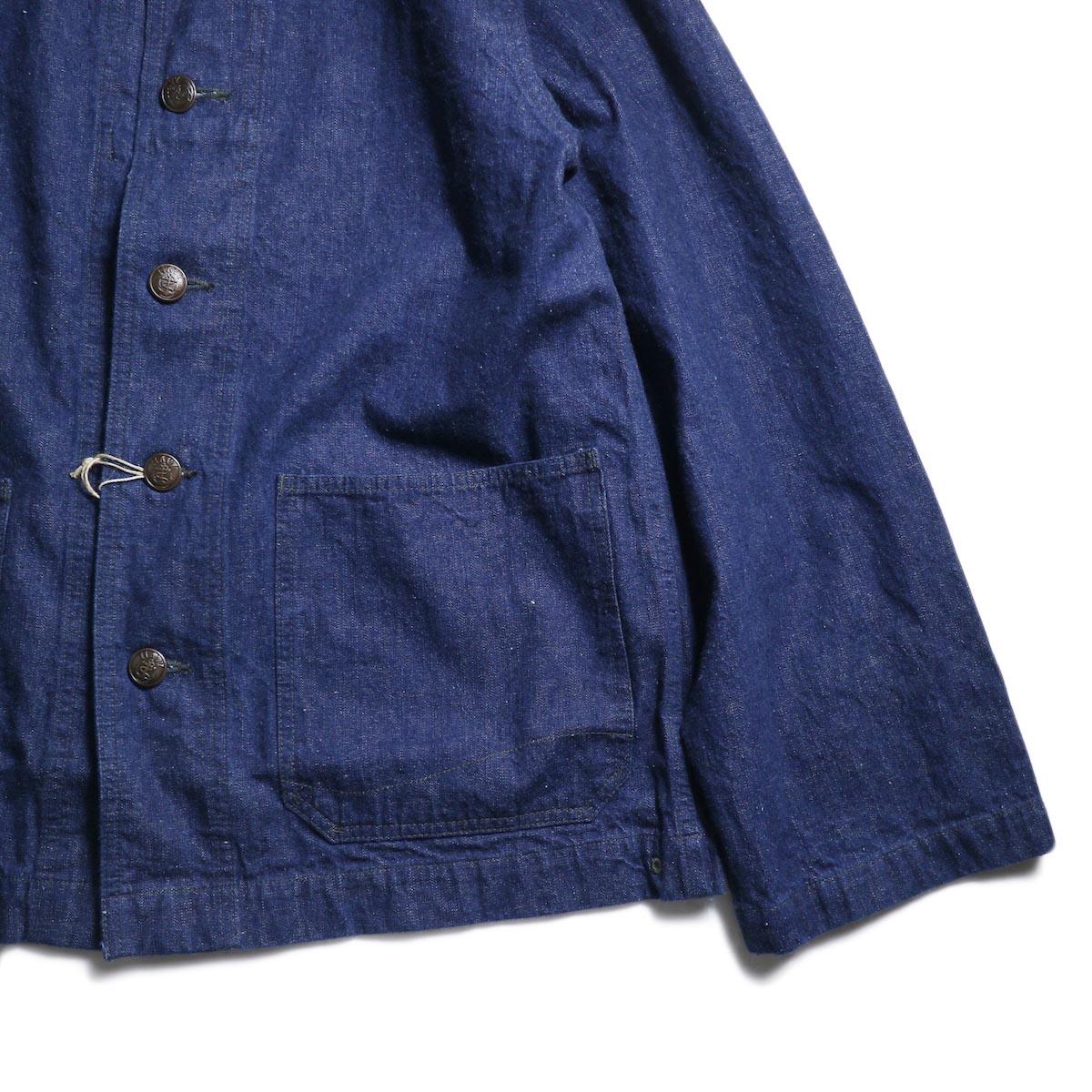 orSlow / US NAVY SHAWL COLLAR JACKET (One Wash)裾、袖