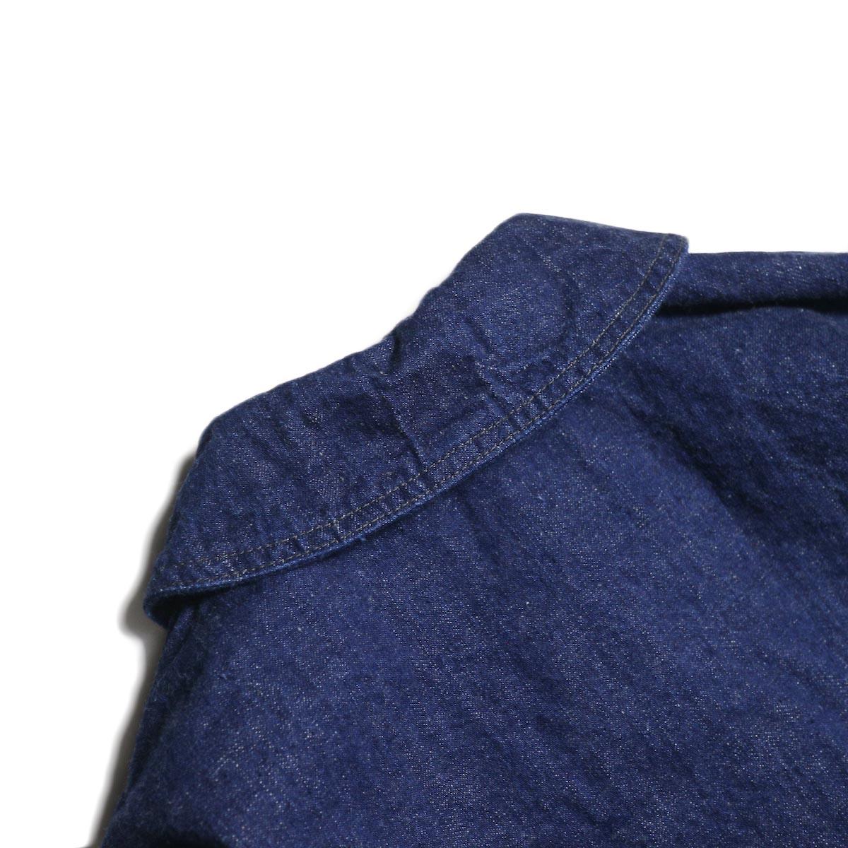 orSlow / US NAVY SHAWL COLLAR JACKET (One Wash)背面襟