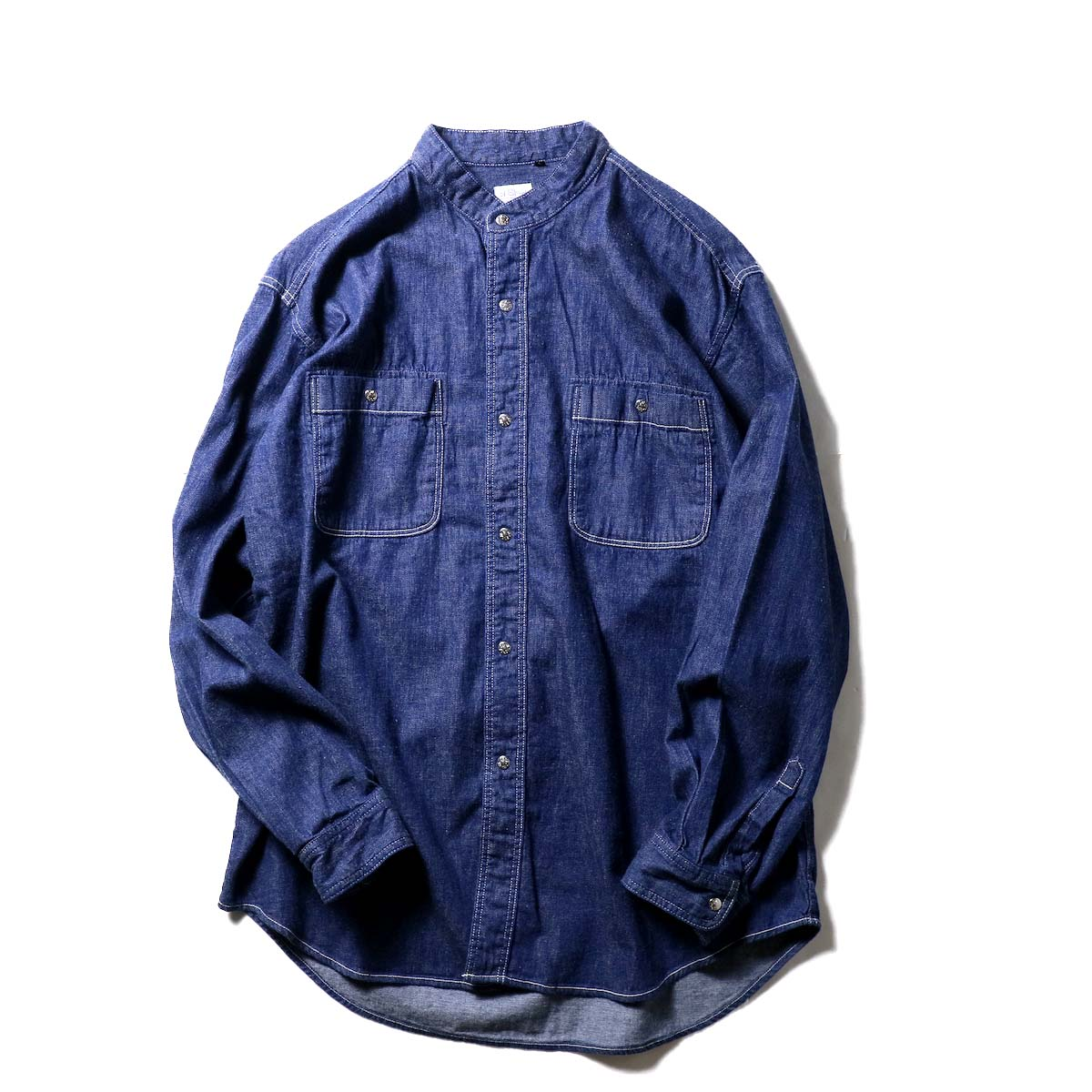 orSlow / STAND COLLAR LONG SLEEVE SHIRT (One Wash)