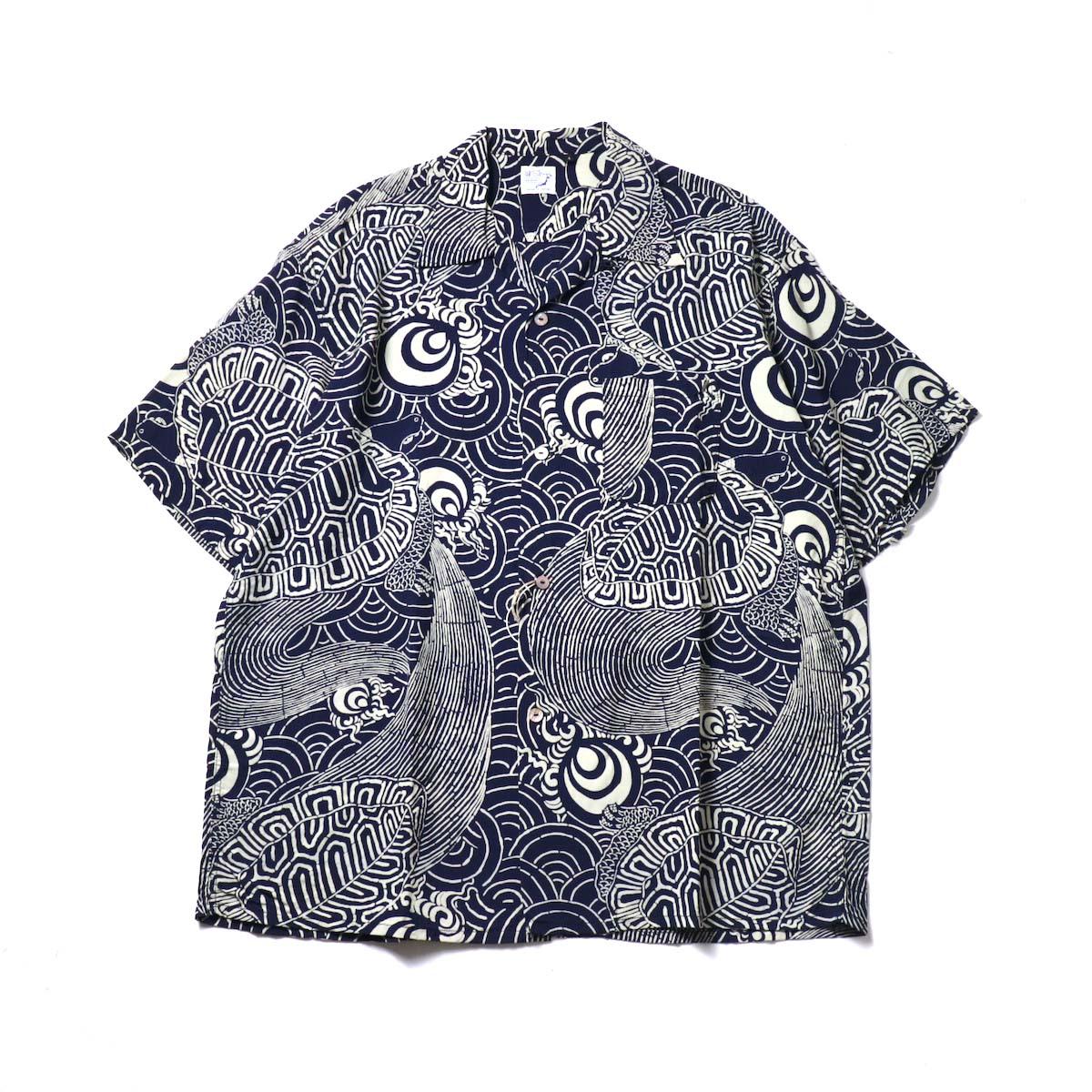 orSlow / TURTLE PRINT HAWAIIAN SHIRTS 正面