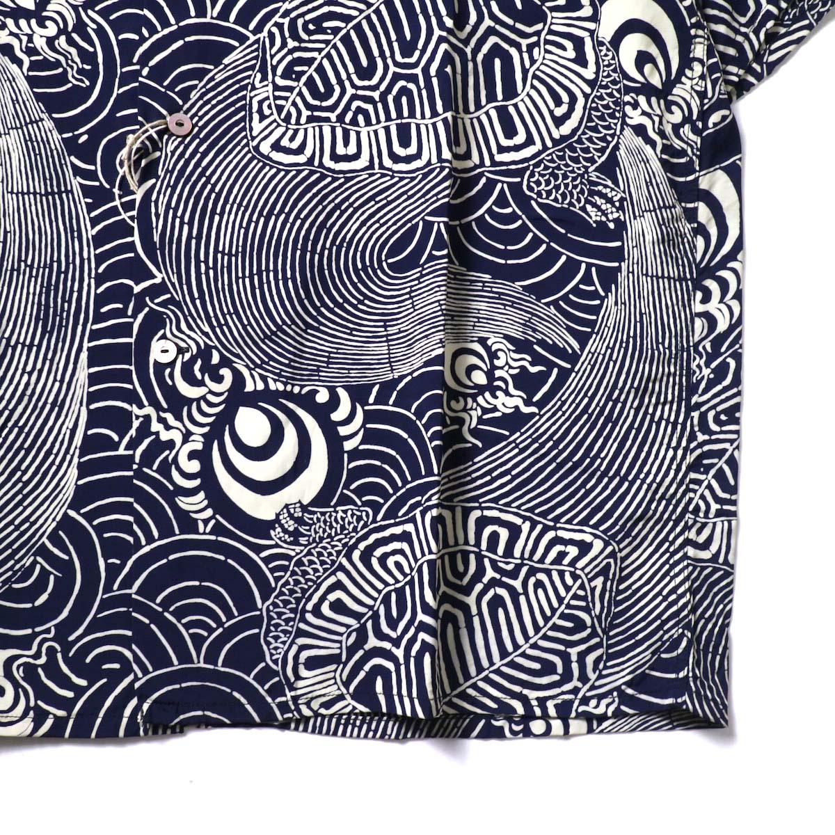 orSlow / TURTLE PRINT HAWAIIAN SHIRTS  裾