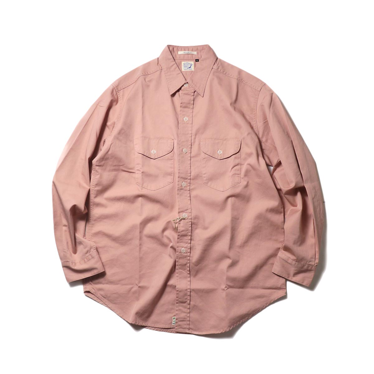 orSlow / UTILITY WORK SHIRT (Pink)正面