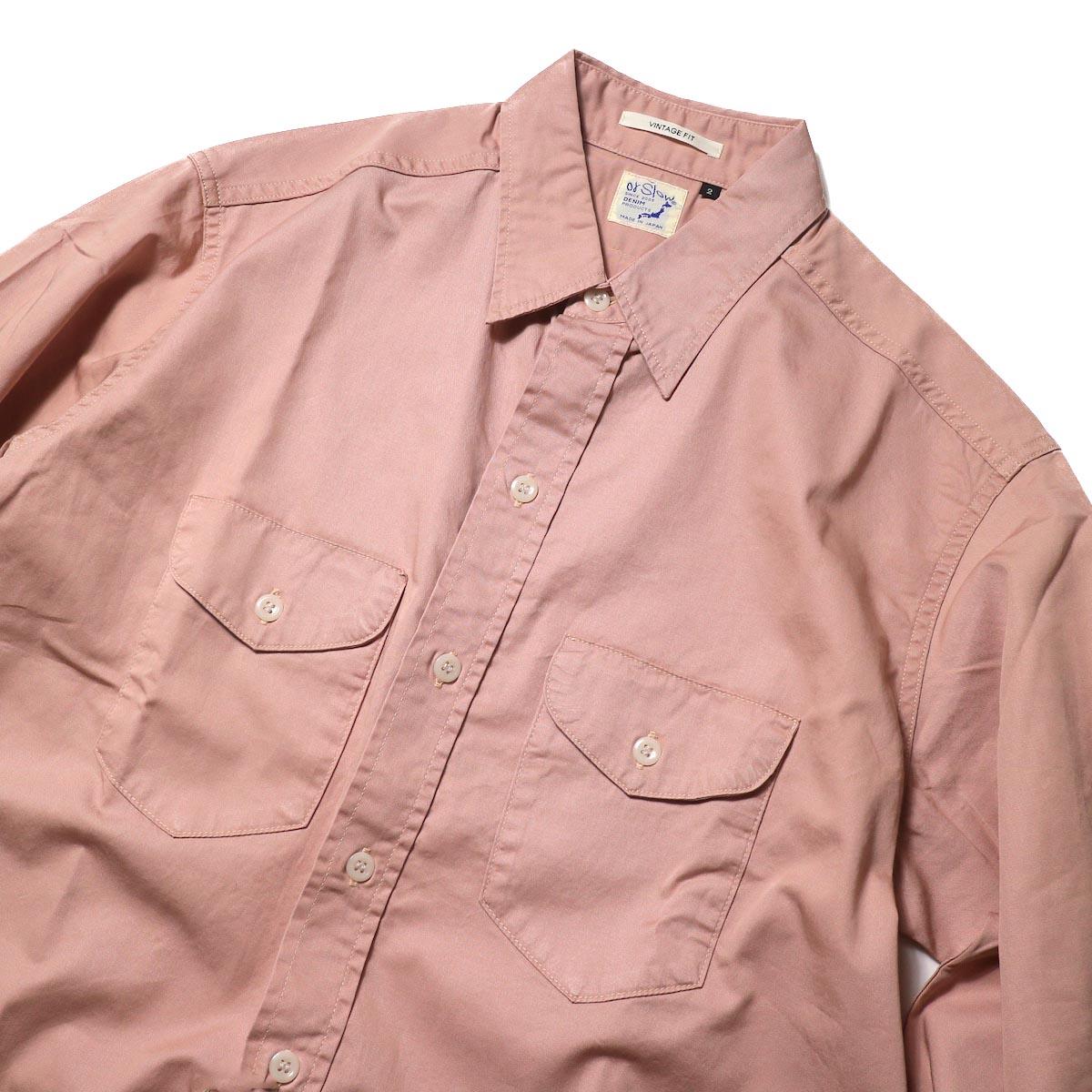 orSlow / UTILITY WORK SHIRT (Pink)襟