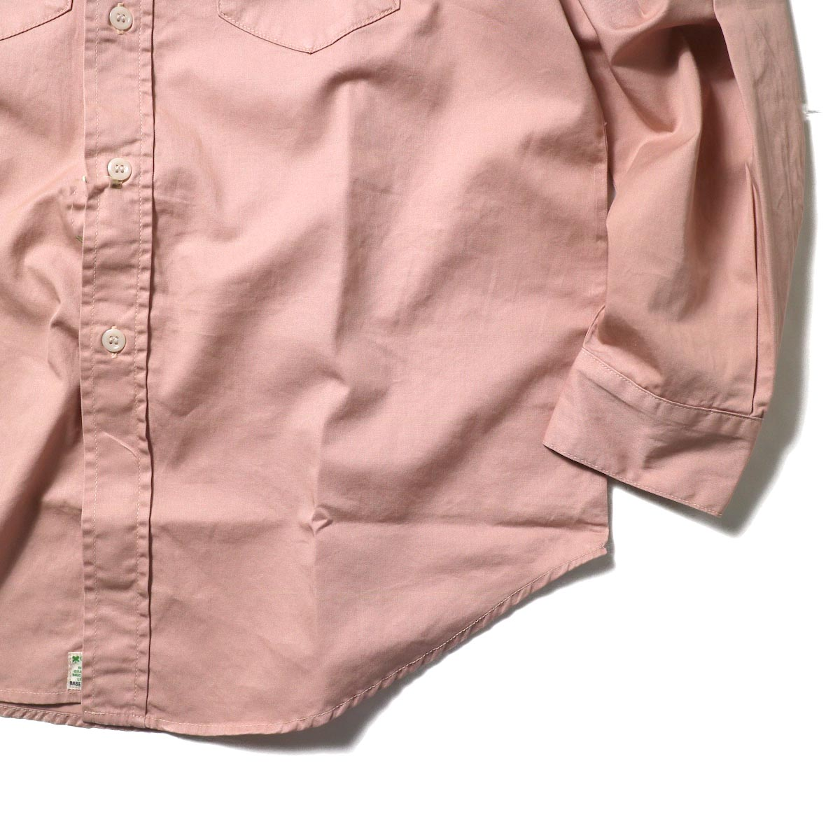 orSlow / UTILITY WORK SHIRT (Pink)袖、裾