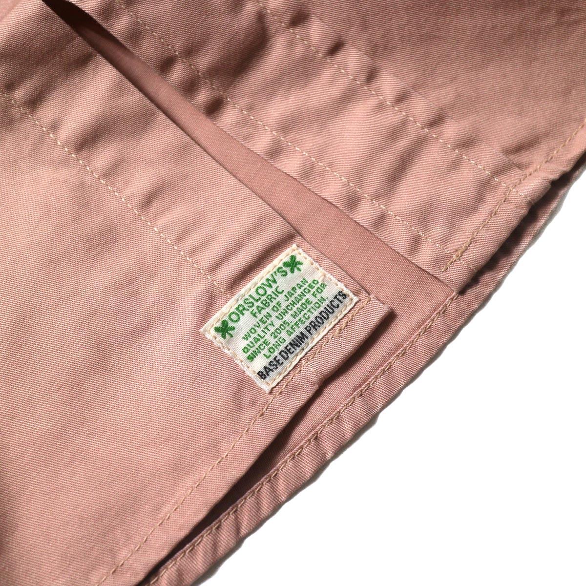 orSlow / UTILITY WORK SHIRT (Pink)タグ