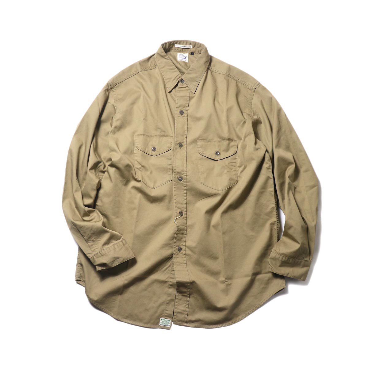 orSlow / UTILITY WORK SHIRT (Khaki)