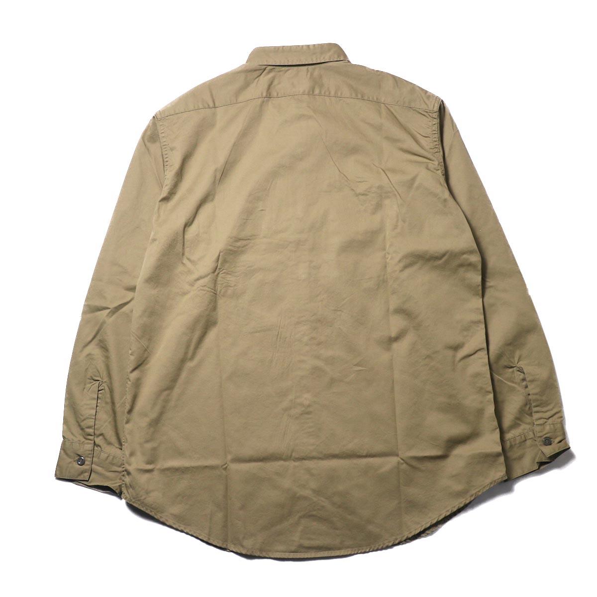 orSlow / UTILITY WORK SHIRT (Khaki)背面