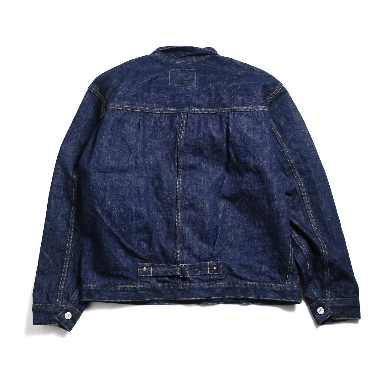 orSlow / Pleated Front Blouse 背面(Tバッグ)