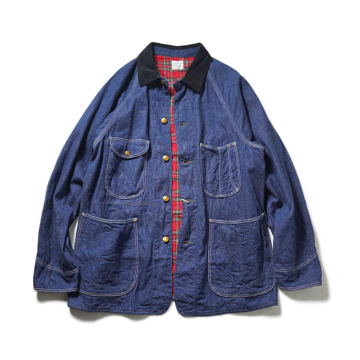 orSlow / Check Linning 1950's coverall (Denim Check)