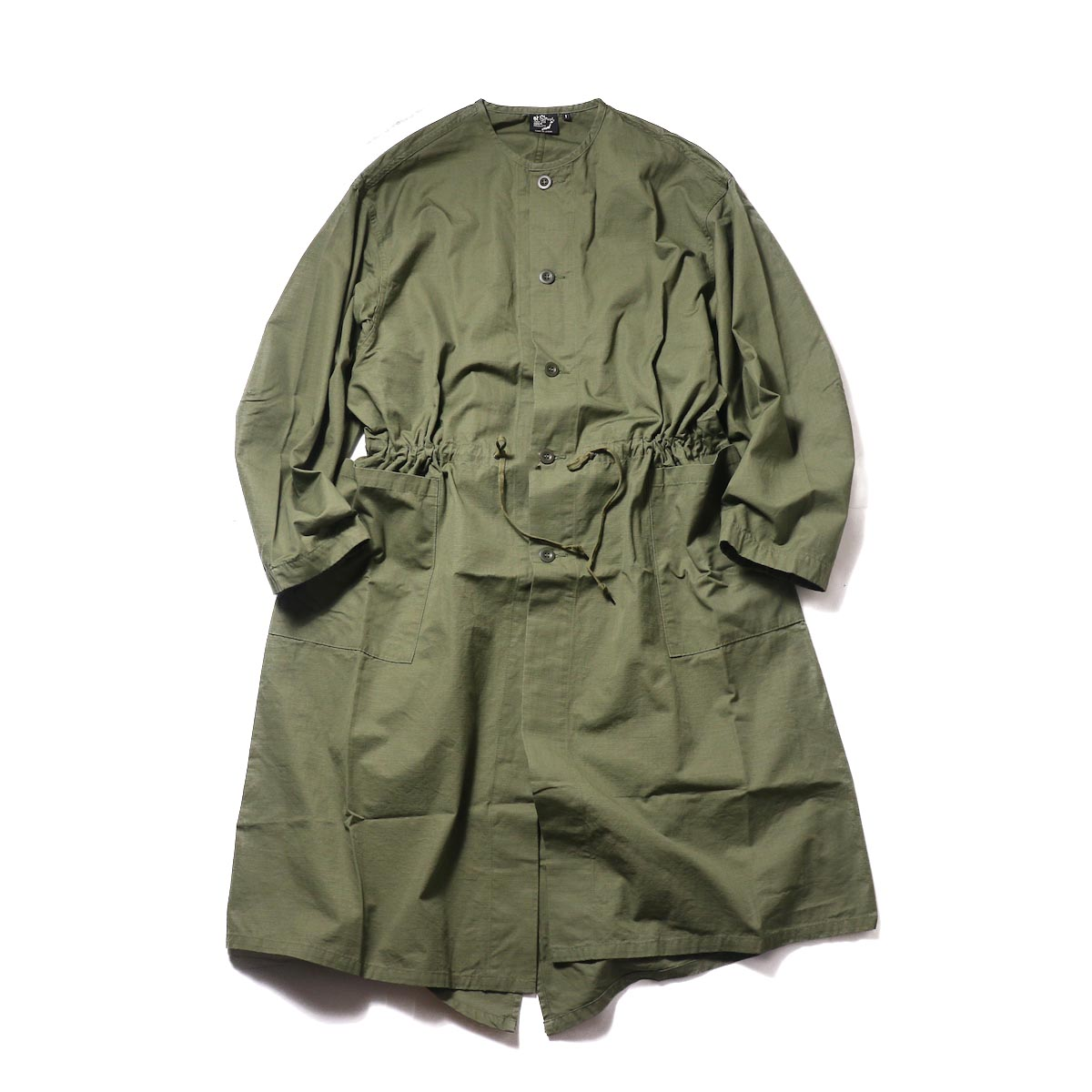 orSlow / No Collar Coat (Army)正面