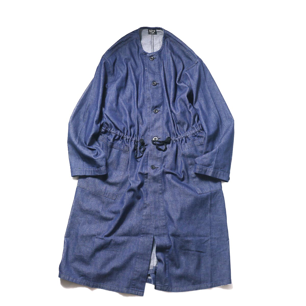 orSlow / No Collar Coat (One Wash)正面