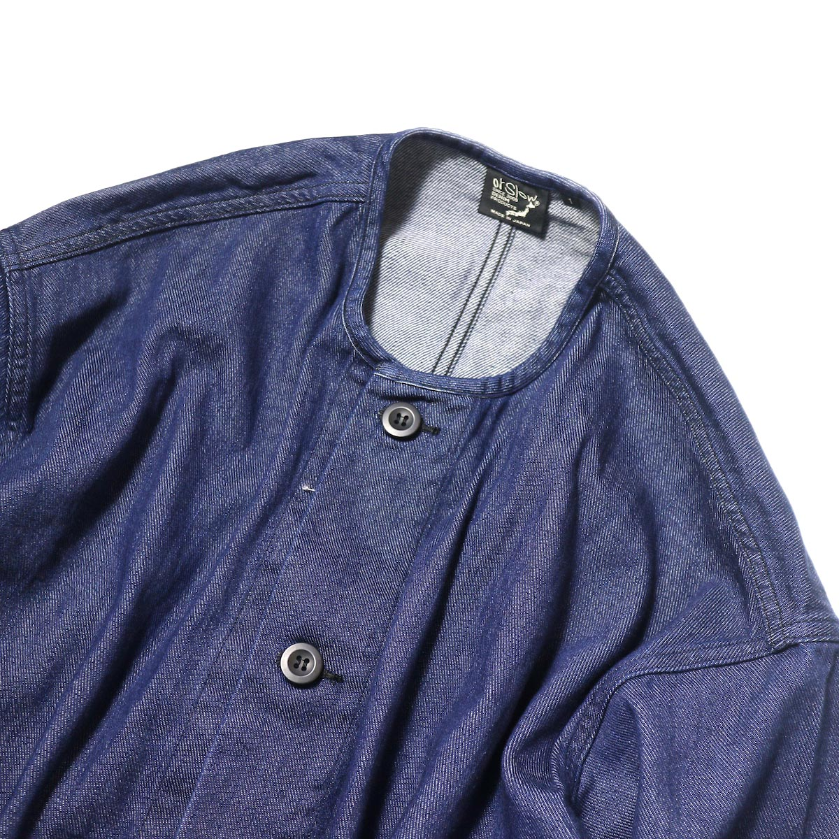 orSlow / No Collar Coat (One Wash)ノーカラー