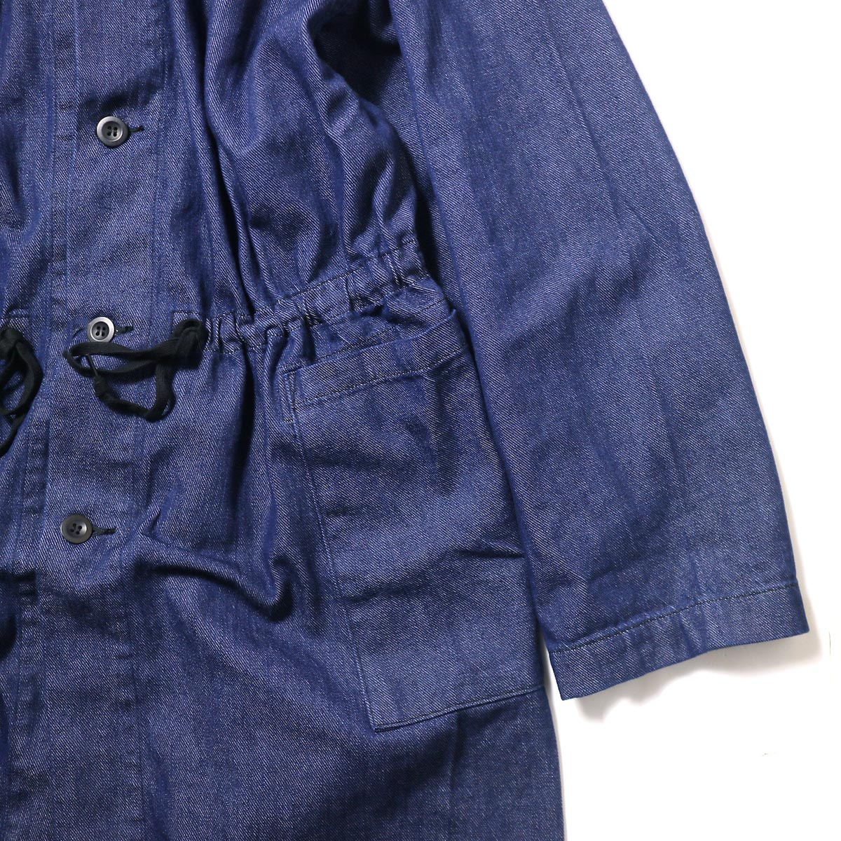 orSlow / No Collar Coat (One Wash)ウエスト、袖