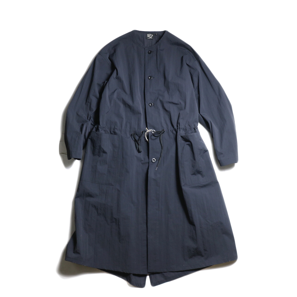 orSlow / NO COLLAR COAT (Black)