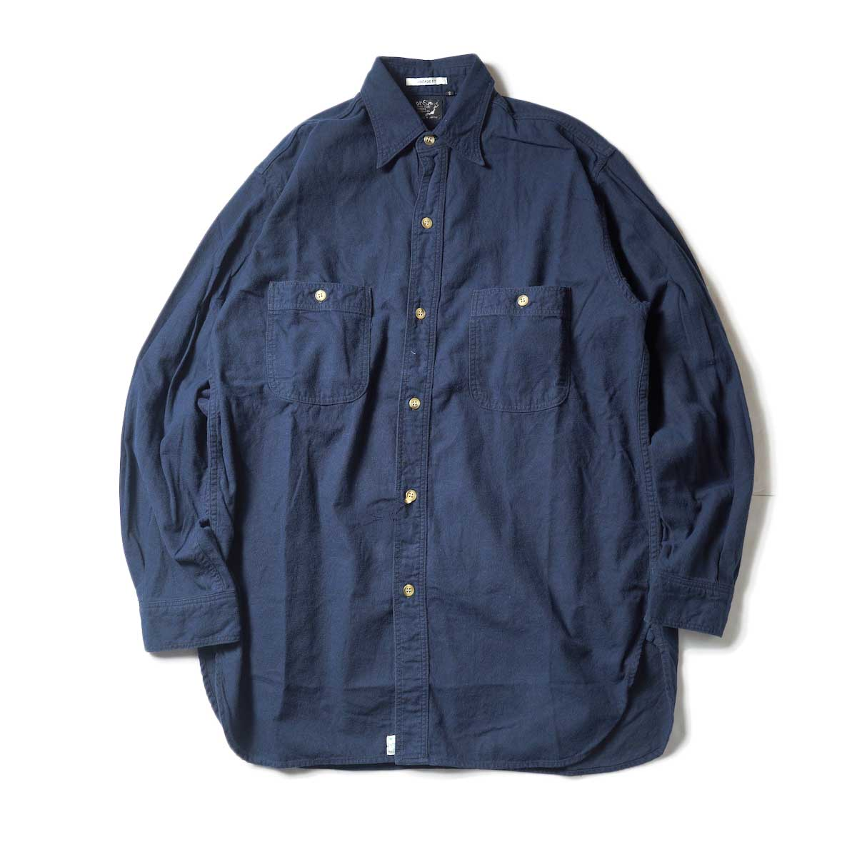 orSlow / VINTAGE FIT WORK SHIRT (Navy)正面