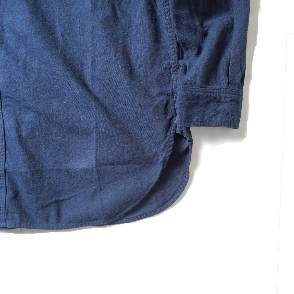 orSlow / VINTAGE FIT WORK SHIRT (Navy)裾、袖