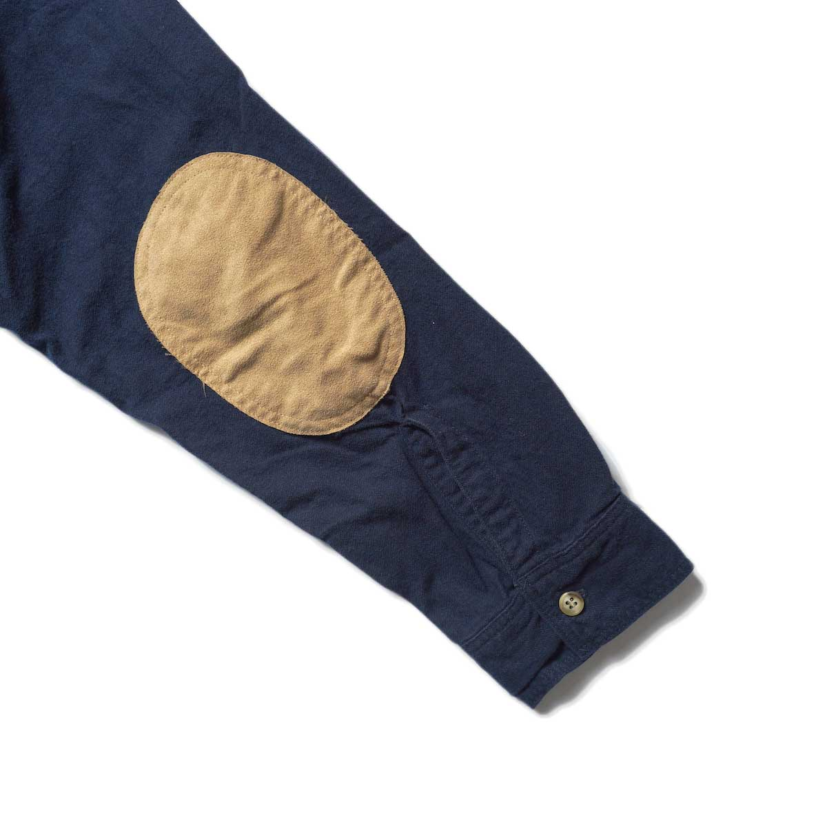 orSlow / VINTAGE FIT WORK SHIRT (Navy)エルボーパッチ