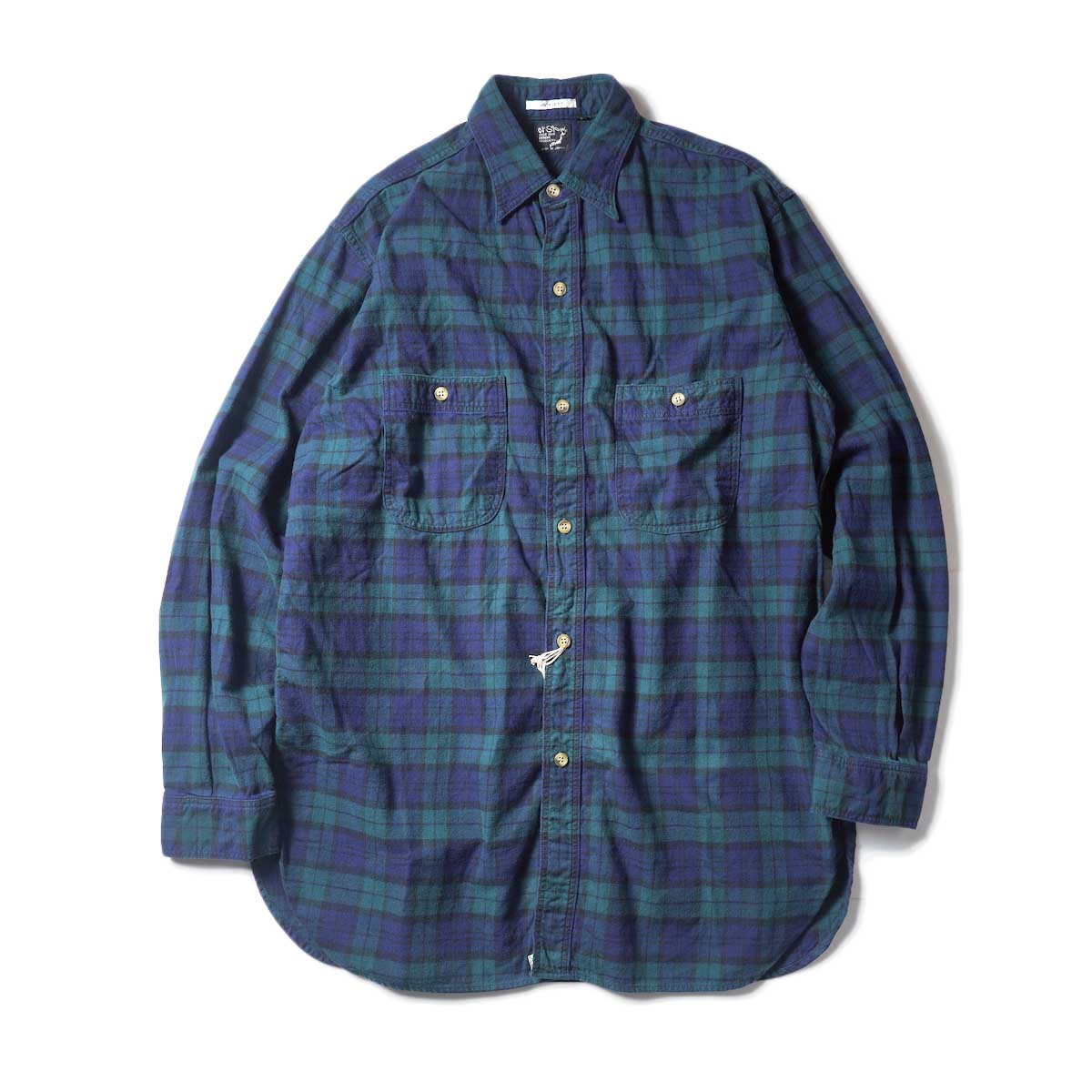 orSlow / VINTAGE FIT WORK SHIRT (Green Check)