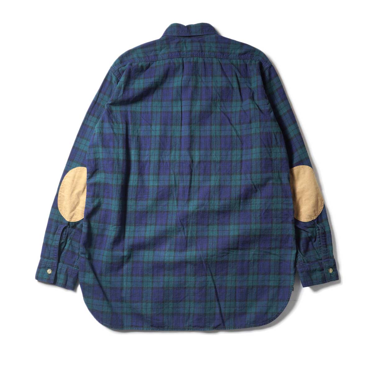 orSlow / VINTAGE FIT WORK SHIRT (Green Check)背面