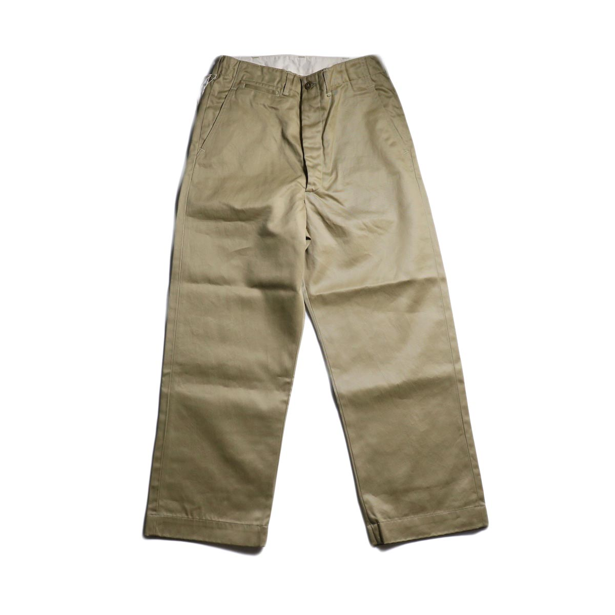 orSlow / VINTAGE FIT ARMY TROUSERS (Khaki)正面