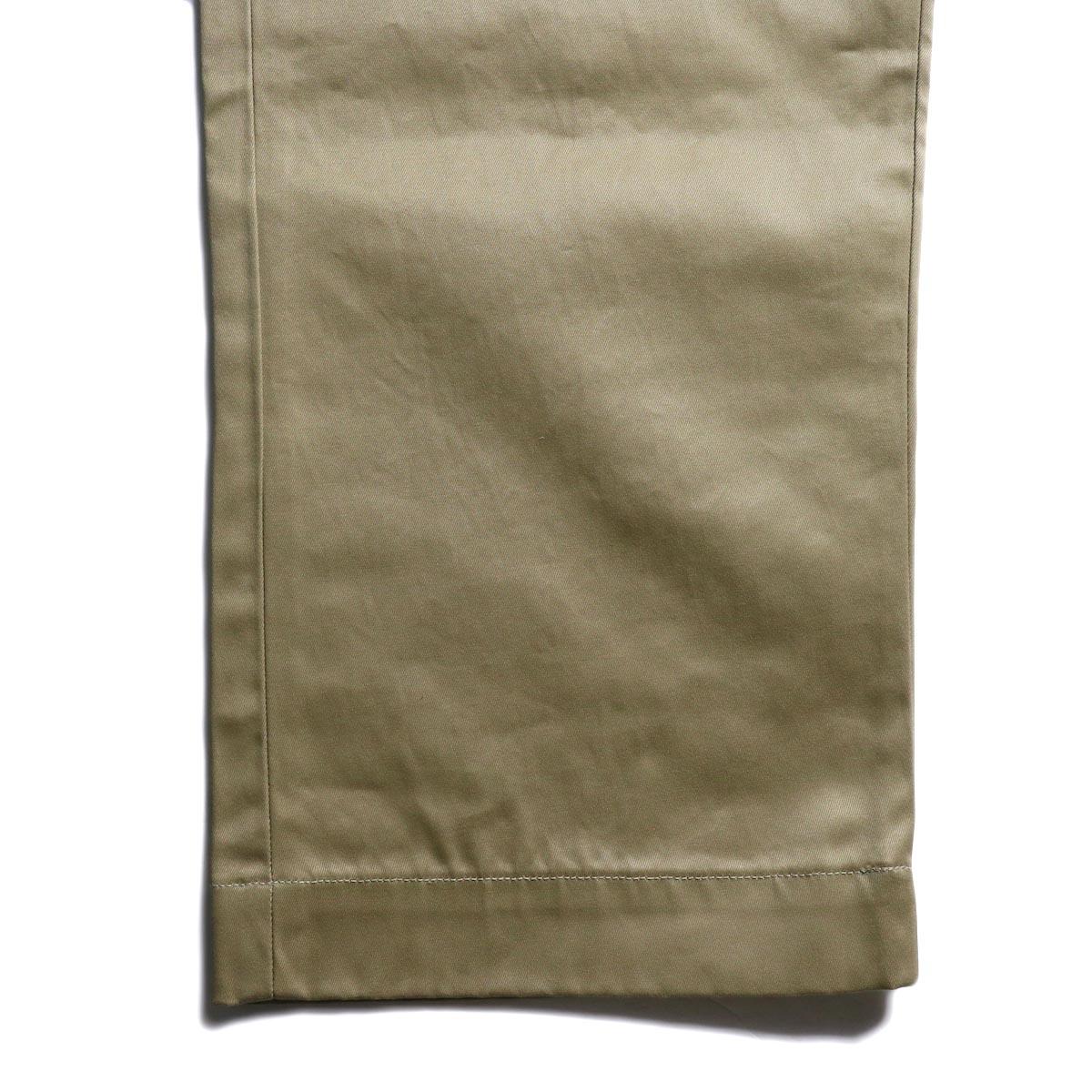 orSlow / VINTAGE FIT ARMY TROUSERS (Khaki)裾