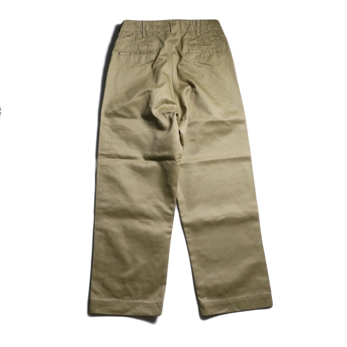 orSlow / VINTAGE FIT ARMY TROUSERS (Khaki)背面