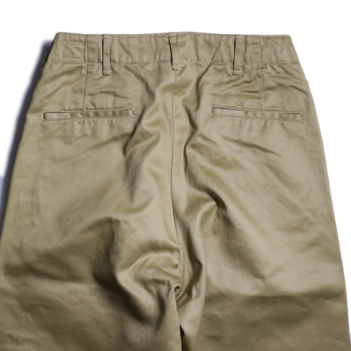 orSlow / VINTAGE FIT ARMY TROUSERS (Khaki)ヒップポケット