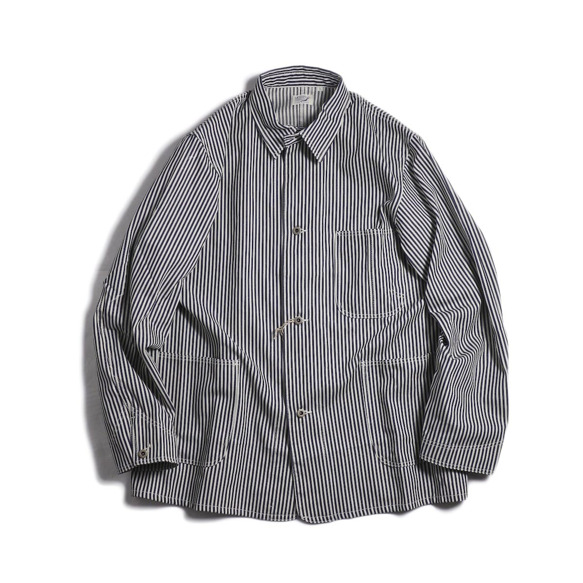 orSlow / 40's Coverall -Hickory Stripe