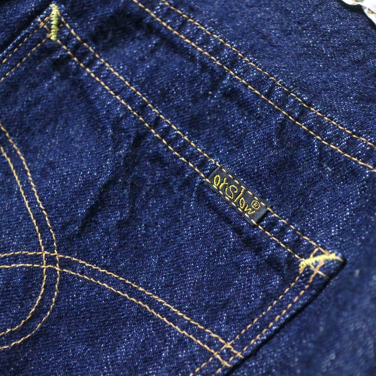 orSlow / DENIM LONG SKIRT 背面ポケット(ブランドロゴ)