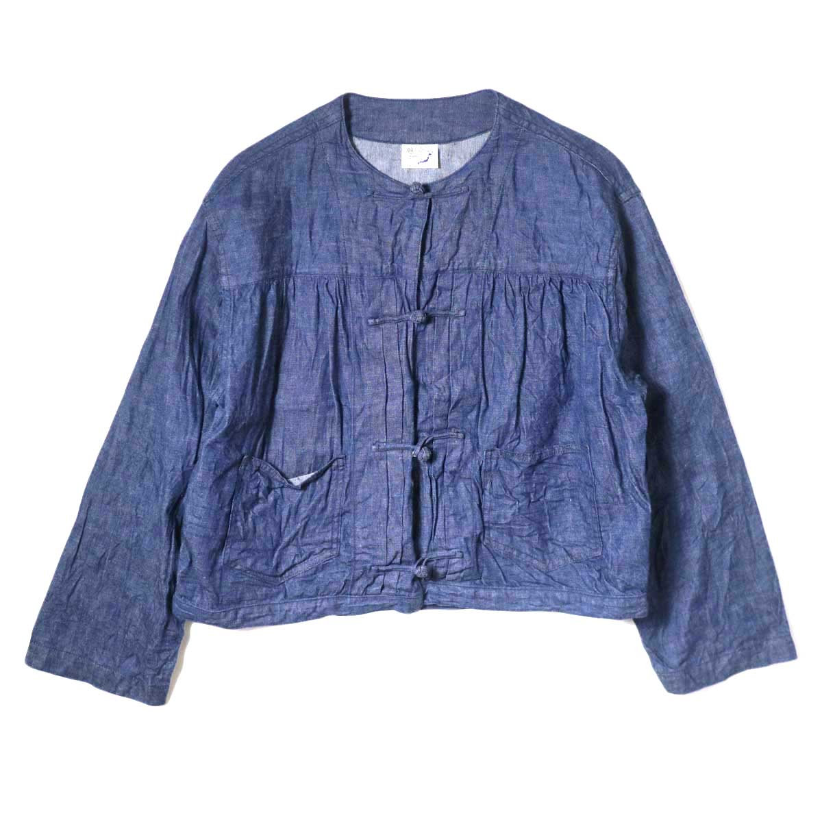 orSlow / Frog Button Denim Shorts Jacket