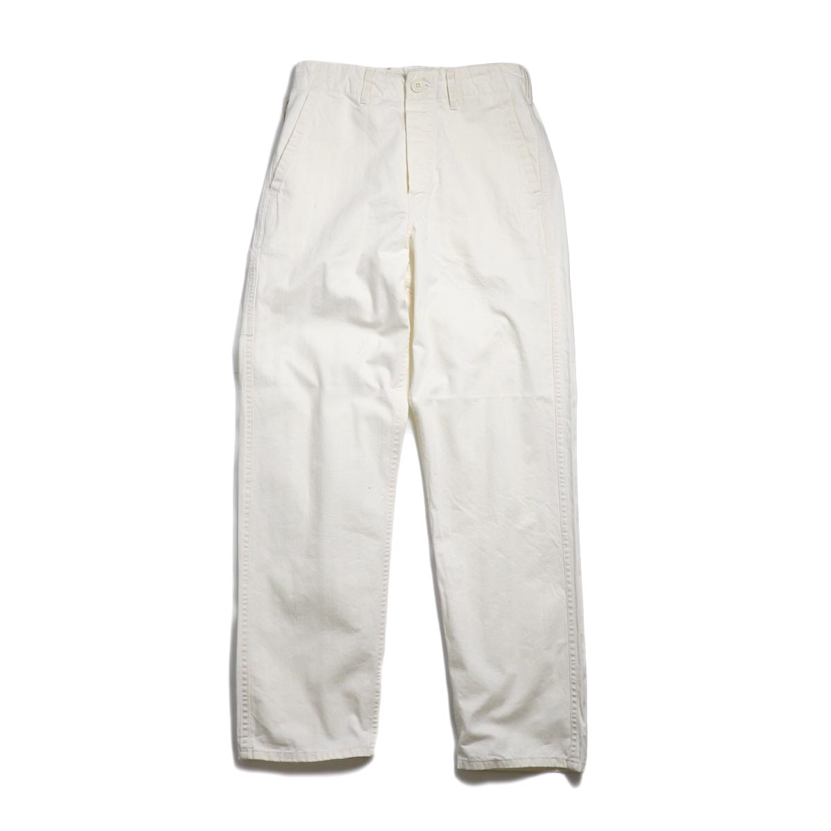 orSlow / French Work Pants -Ecru 正面