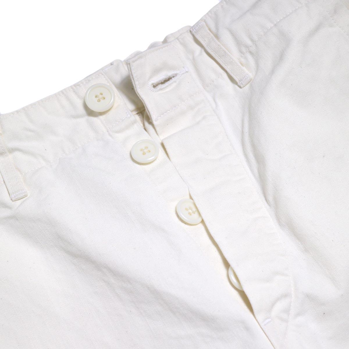 orSlow / French Work Pants -Ecru ボタンフライ