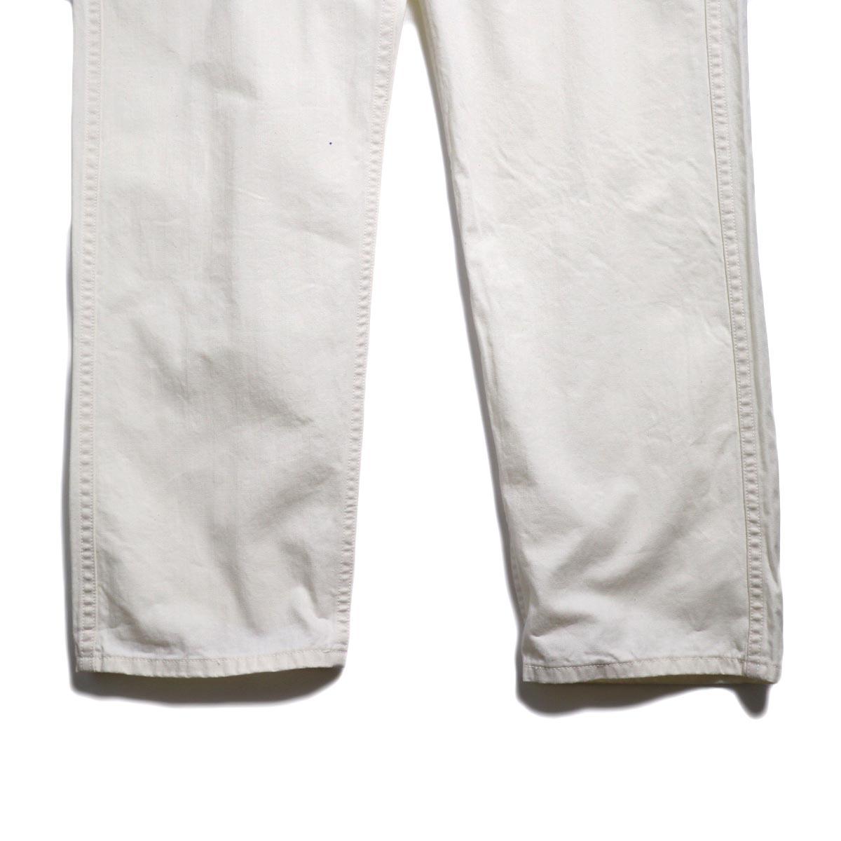 orSlow / French Work Pants -Ecru 裾