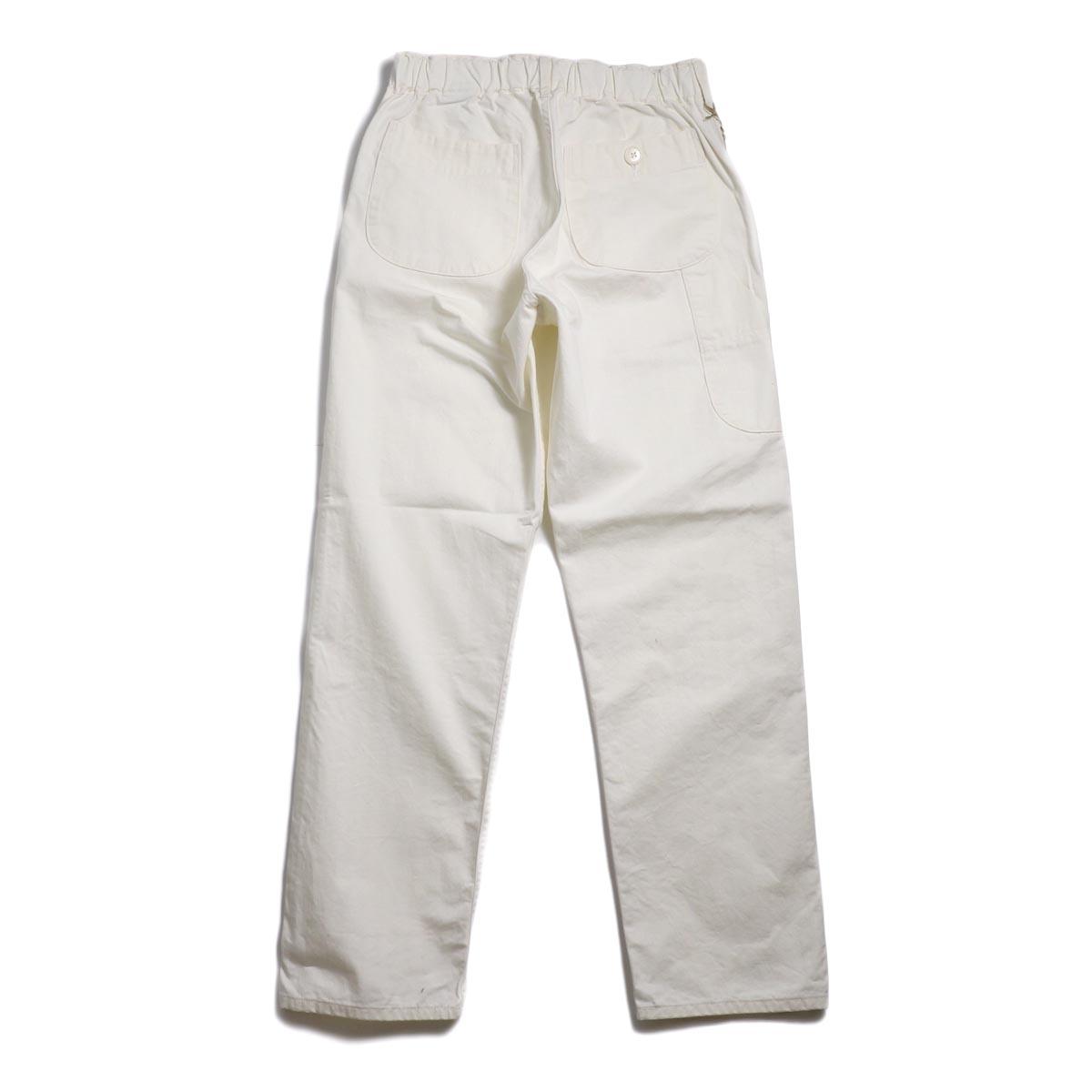 orSlow / French Work Pants -Ecru 背面