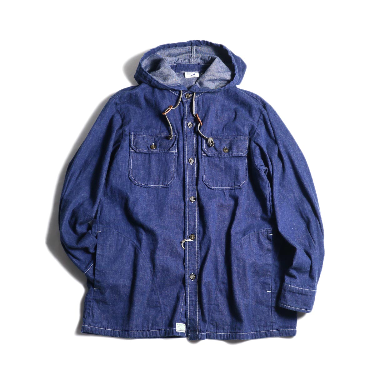orSlow / HOODED SHIRT JACKET (One Wash)