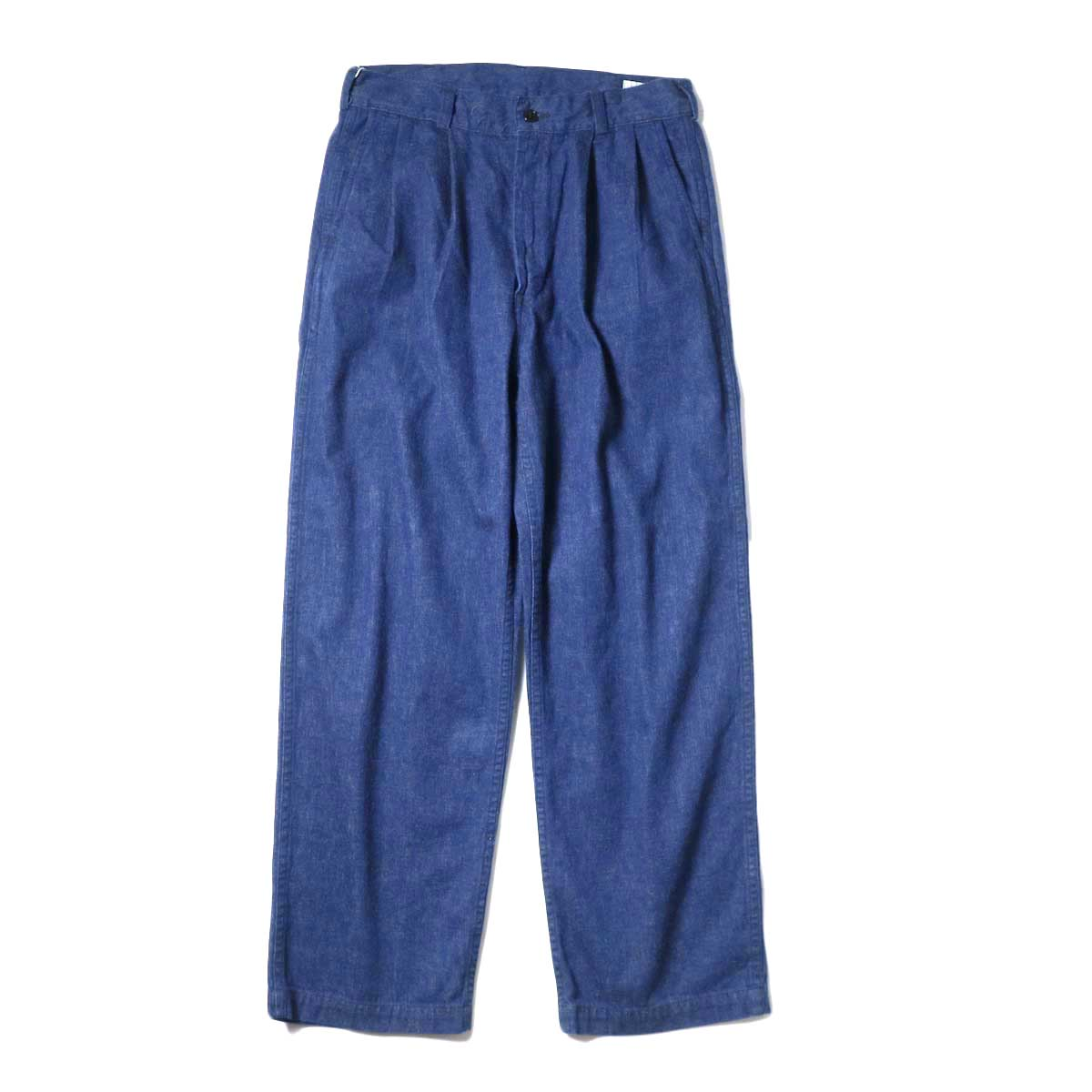 orSlow / TWO TUCK DENIM WIDE TROUSER (Unisex) 正面