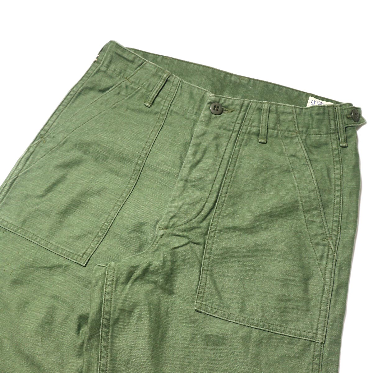 orSlow / US ARMY FATIGUE PANTS (Used Green)正面