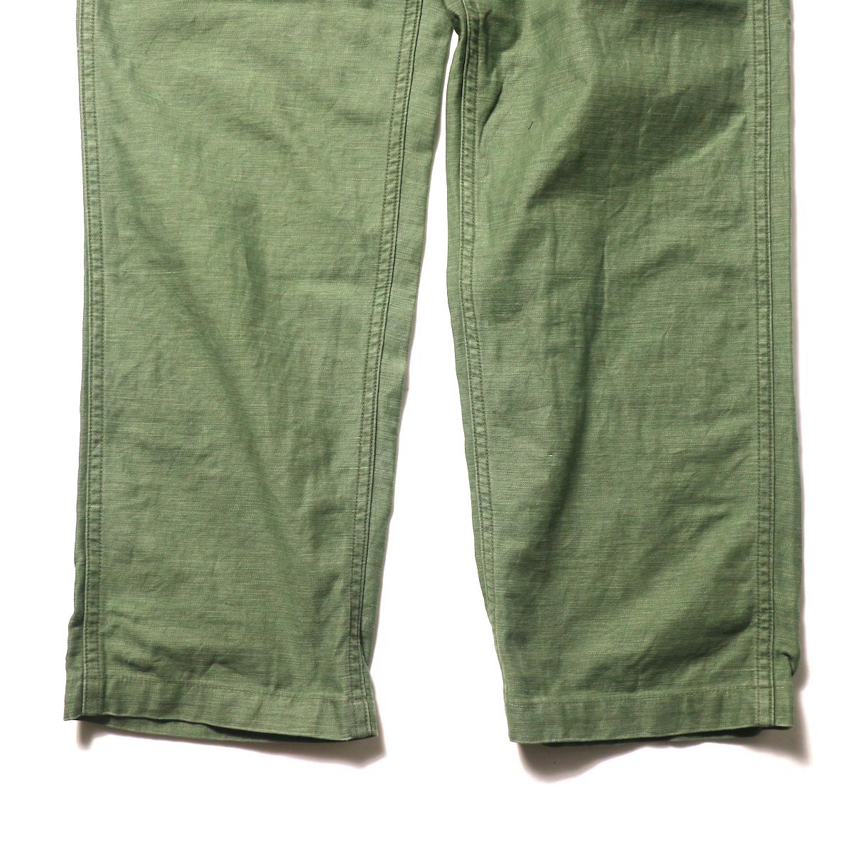 orSlow / US ARMY FATIGUE PANTS (Used Green)裾