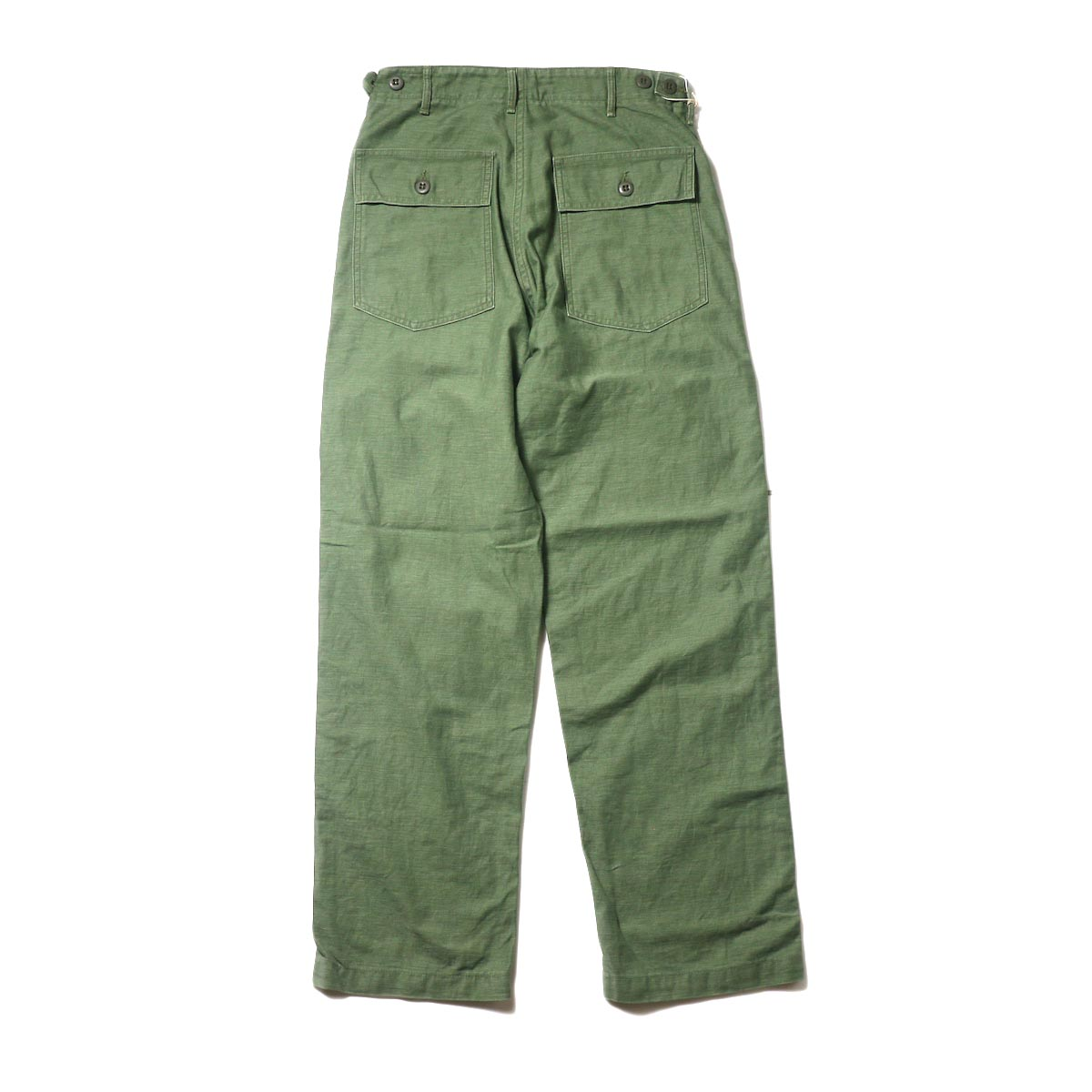 orSlow / US ARMY FATIGUE PANTS (Used Green)背面