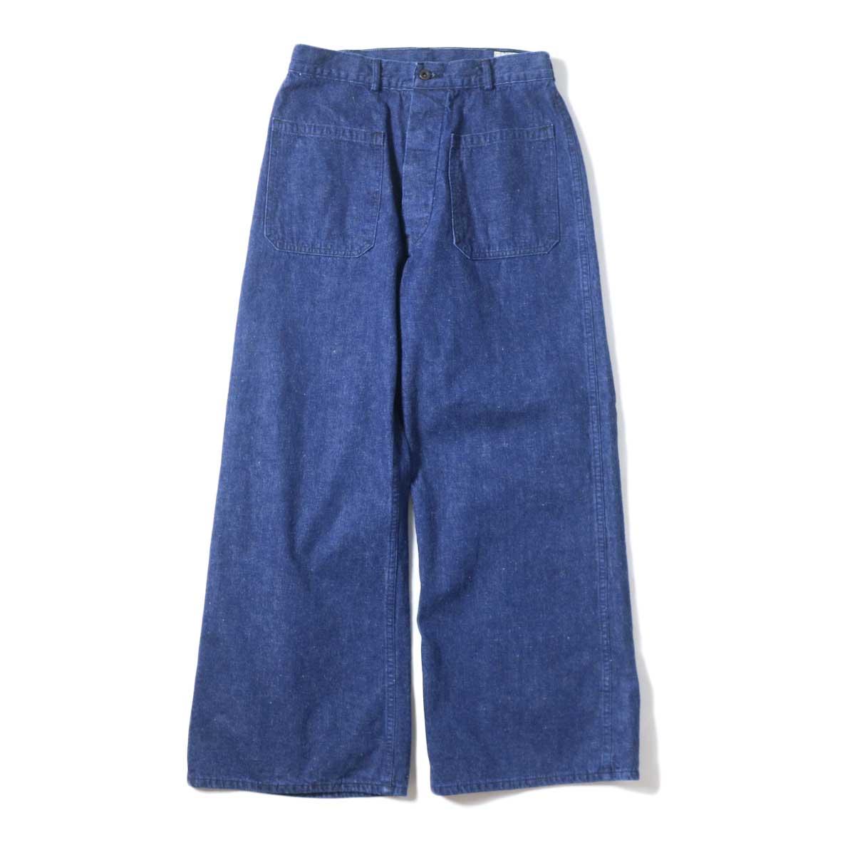 orSlow / US NAVY DENIM FLARE PANTS