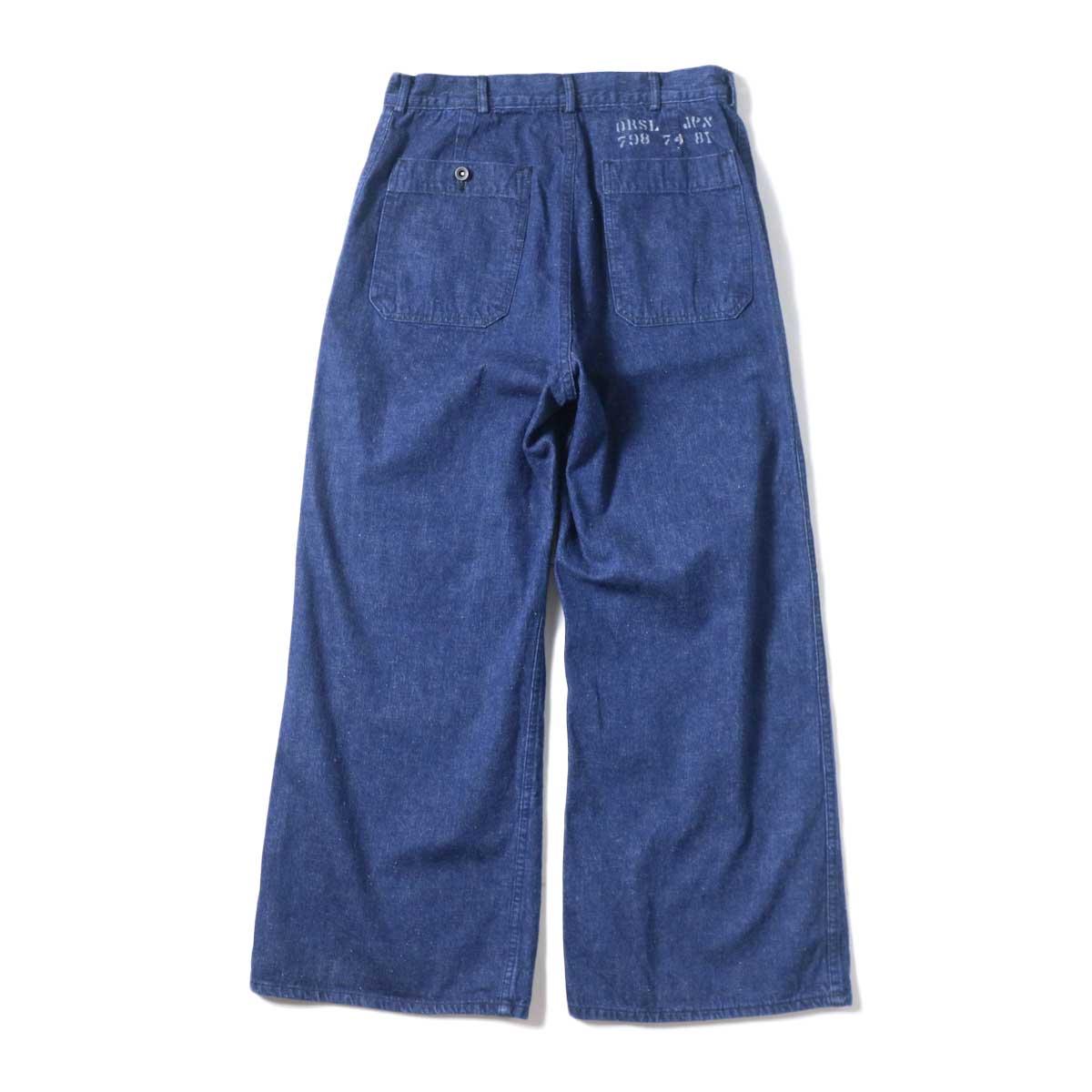 orSlow / US NAVY DENIM FLARE PANTS 背面