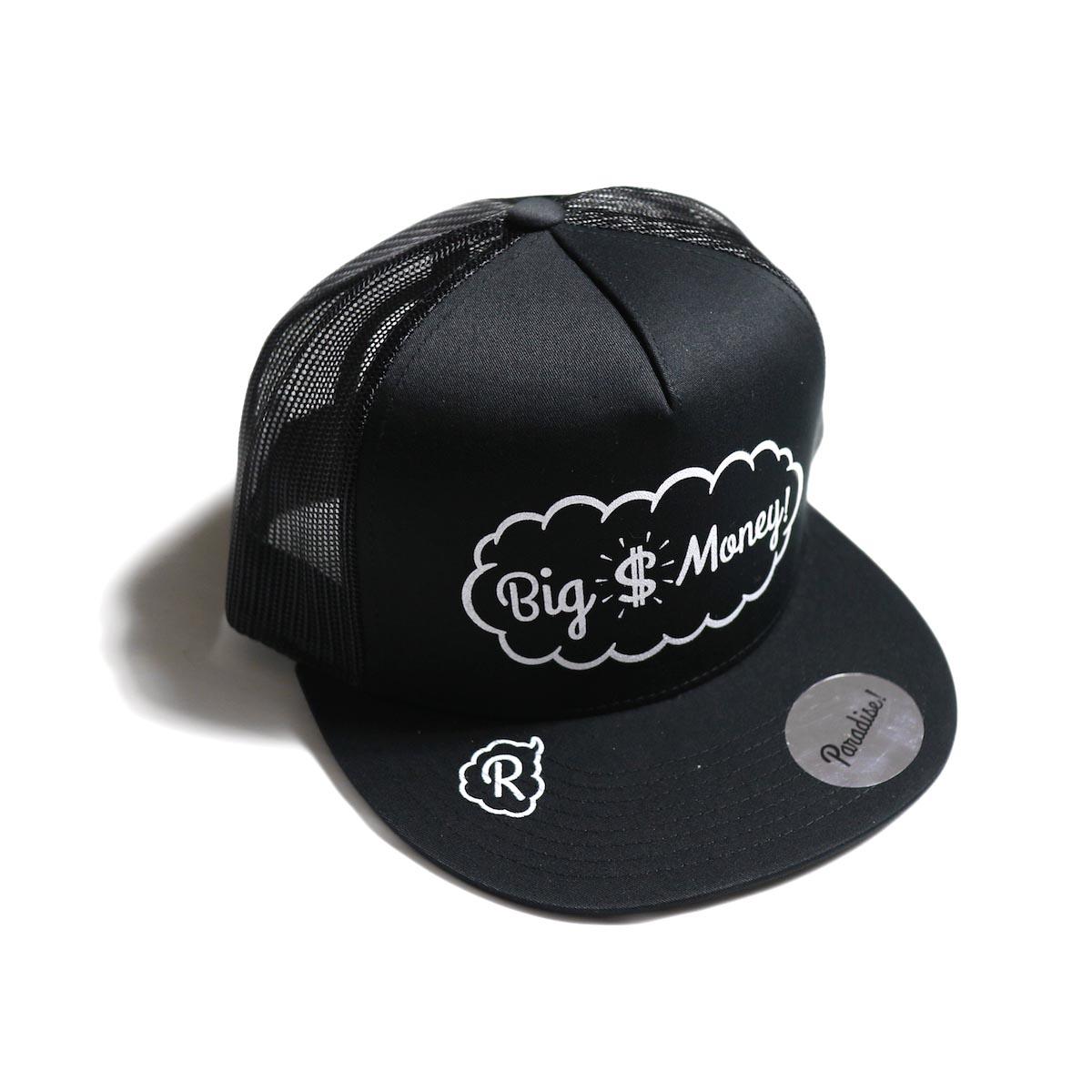 Paradise! / mesh cap (Big Money) -BLK×BLK