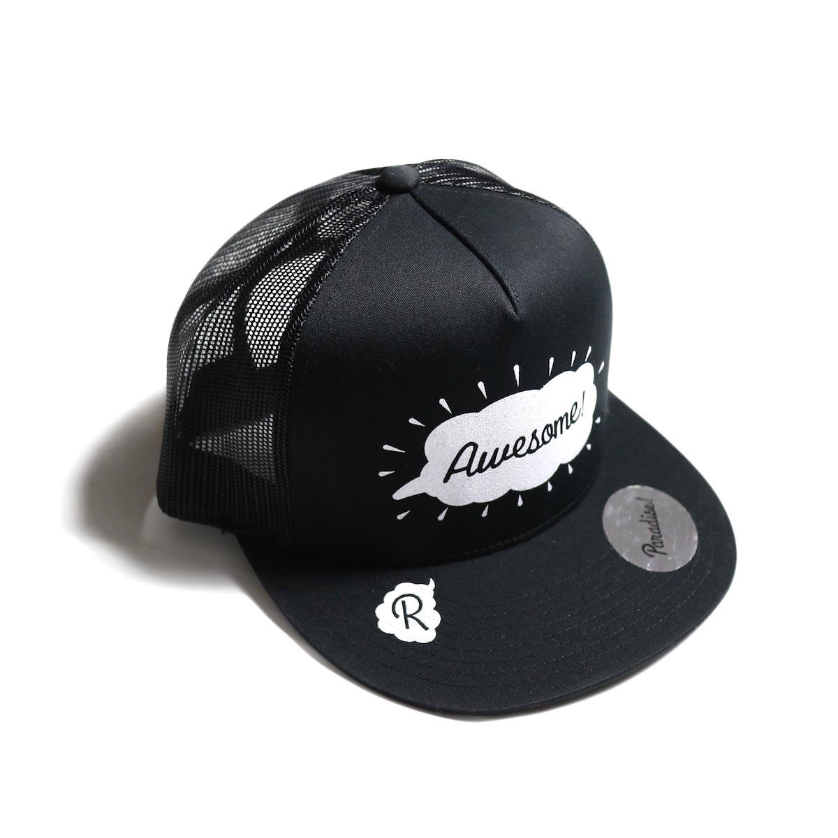 Paradise! / mesh cap (Awesome) -BLK×WHT