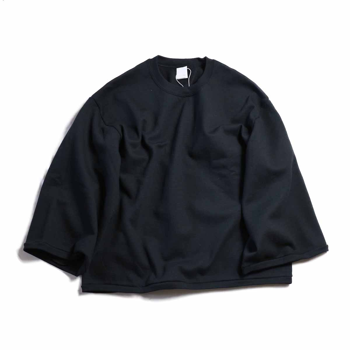 PRE_ / WIDE SWEAT -BLACK