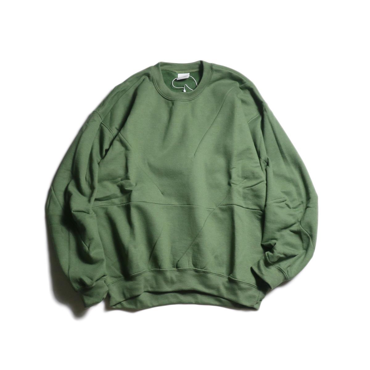 PRE_ / Crazy Darts Sweat (Military Green)