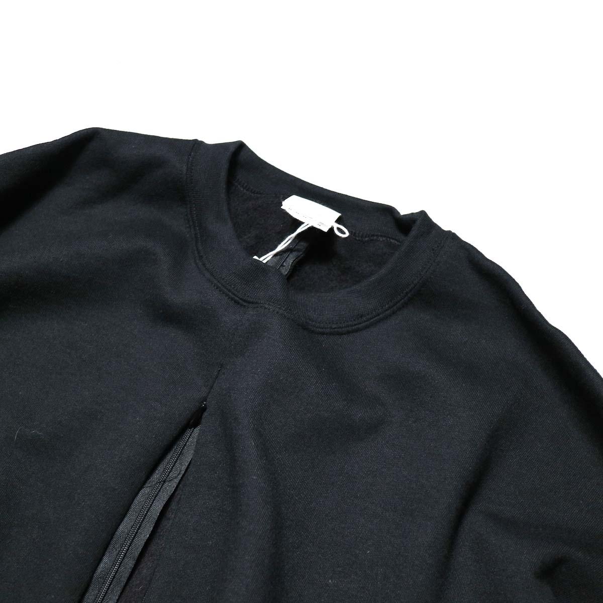 PRE_ / F&B OPEN SWEAT (Black)クルーネック