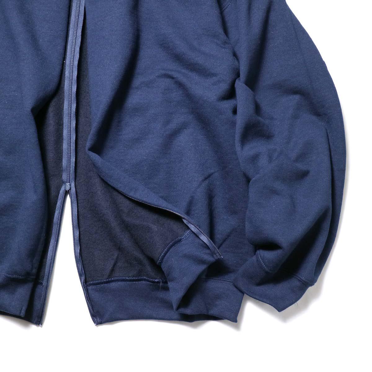 PRE_ / F&B OPEN SWEAT (Navy)裾、袖